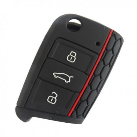 Silikónový obal pre kľúč VW 3-tlačidlový, čierny