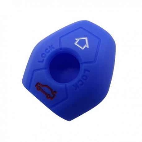 Silikónový obal pre kľúč BMW 3-tlačidlový, modrý