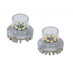 x LED stroboskop modrý 8x3W, 12-24V