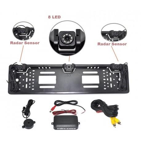 Parkovací systém s kamerou a 2 senzory v ŠPZ