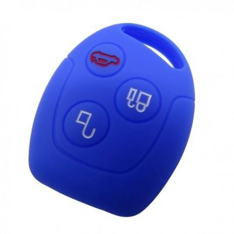 Silikónový obal pre kľúč Ford 3-tlačidlový, modrý