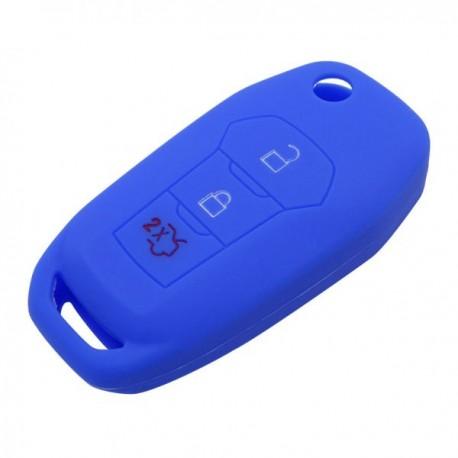 Silikónový obal pre kľúč Ford Focus 2012-, Mondeo 2011- modrý