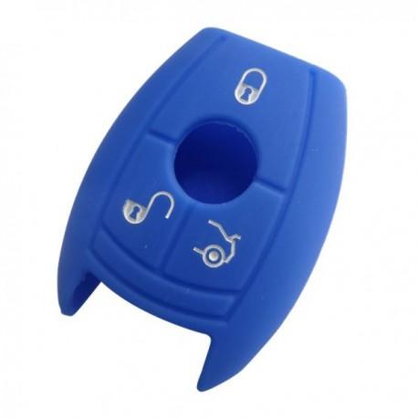 Silikónový obal pre kľúč Mercedes 3-tlačidlový, modrý