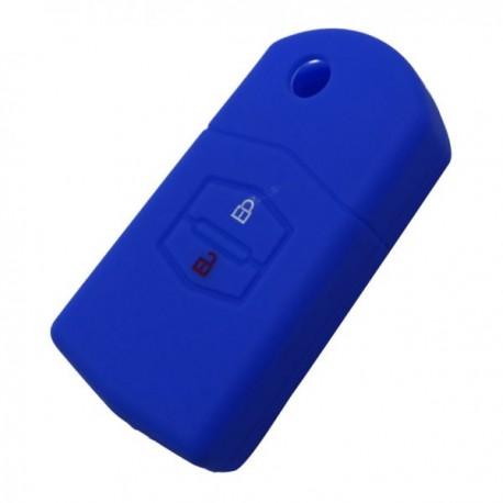 Silikónový obal pre kľúč Mazda 6, 5, 3, 2, 2-tlačidlový, modrý