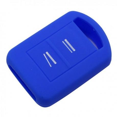 Silikónový obal pre kľúč Opel 2-tlačidlový, modrý