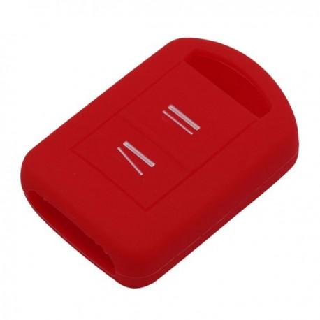 Silikónový obal pre kľúč Opel 2-tlačidlový, červený