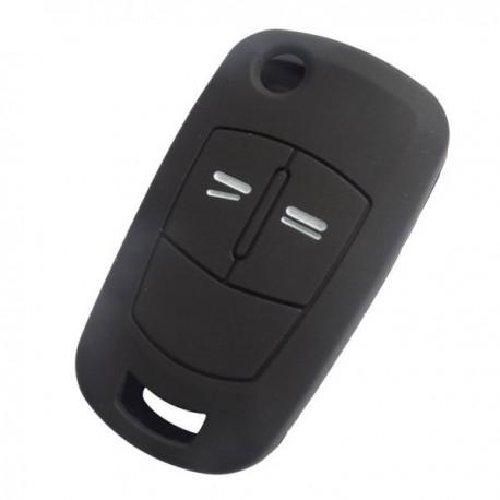 Silikónový obal pre kľúč Opel 2-tlačidlový, čierny