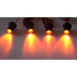 LED stroboskop oranžový 4ks 1W