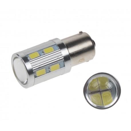 LED BA15s biela, 12-24V, 16LED / 5730SMD