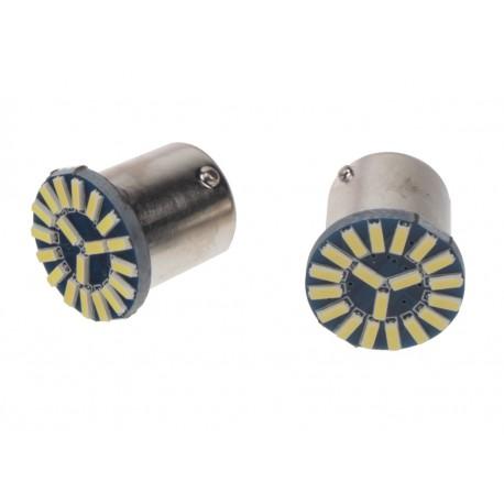 LED BA15s biela, 12V, 19LED / 4014SMD