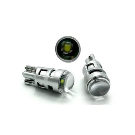 CREE LED T10 biela, 12V, 5W s šošovkou