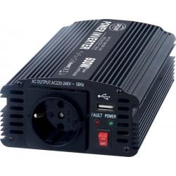 Menič napätia z 12 / 230V + USB, 600W