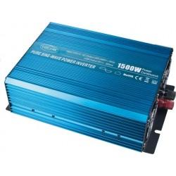 Sínusový menič napätia z 24 / 230V + USB, 1500W