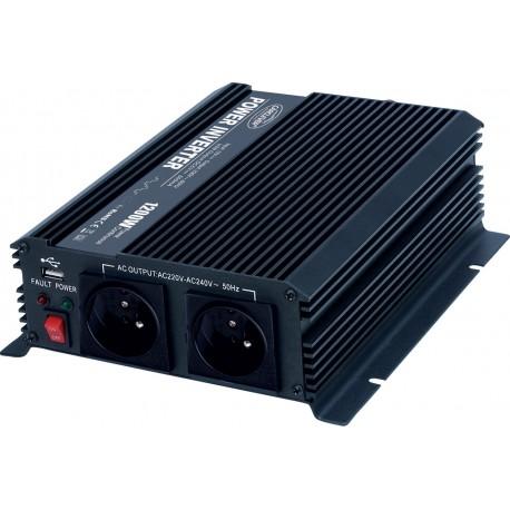 Menič napätia z 12 / 230V + USB, 1200W