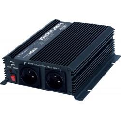 Menič napätia z 24 / 230V + USB, 1200W