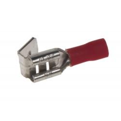 Rozvádzač plochý 6,3 mm červený, 100 ks