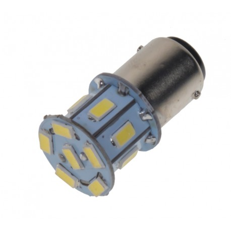 LED BA15d (jednovlákno) biela, 12V, 13LED / 5730SMD