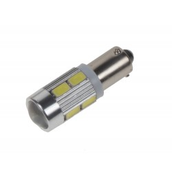 LED BAX9s biela, 12-24V, 10LED / 5730SMD