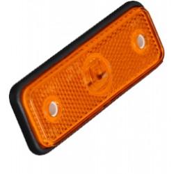 Bočné obrysové LED svetlo, 12-24V, oranžovej, obdĺžnik, homologácia