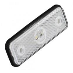 Predné obrysové svetlo LED, biely obdĺžnik, homologácia