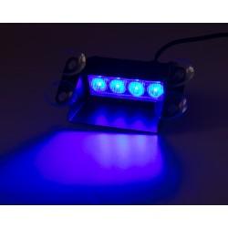 PREDATOR LED vnútorné, 4x3W, 12-24V, modrý, 146mm