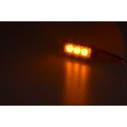 PREDATOR 3x3W LED, 12-24V, oranžový, ECE R10