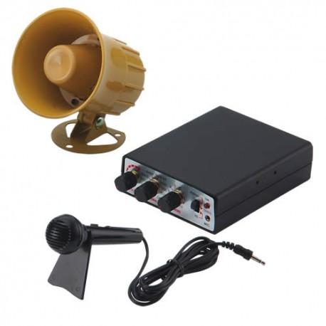 Hobby zvukový systém 15W (35 variantov zvukov zvierat a sirén + mikrofón)