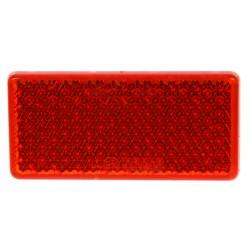 Zadná (červený) odrazový element - obdĺžnik 95 x 45mm nalepovacie