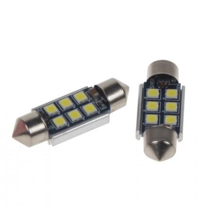 LED sufit (36mm) biela, 12V, 6LED / 3030SMD