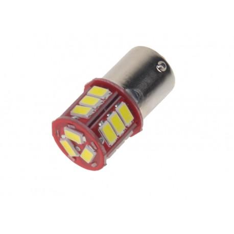 LED BA15s biela, 12-24V, 18LED / 5730SMD
