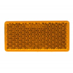 Bočné (oranžový) odrazový element - obdĺžnik 95 x 45mm nalepovacie