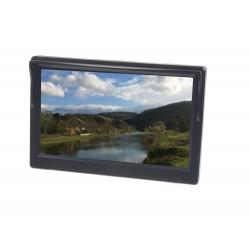 LCD monitor 5 čierna / strieborná s prísavkou s možnosťou inštalácie na HR držiak
