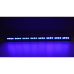 LED svetelná alej, 32x 3W LED, modrá 910mm, ECE R10