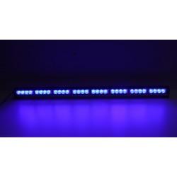 LED svetelná alej, 32x 3W LED, modrá 910mm, R10
