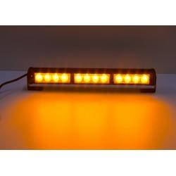 LED svetelná alej, 12x LED 3W, oranžová 360mm, ECE R10 R65