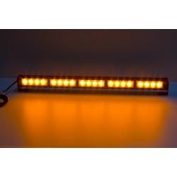 LED svetelná alej, 20x LED 3W, oranžová 580mm, ECE R10 R65