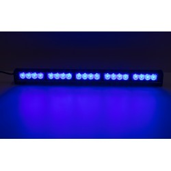 LED svetelná alej, 20x LED 3W, modrá 580mm, ECE R10