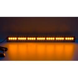 LED svetelná alej, 28x LED 3W, oranžová 800mm, ECE R65