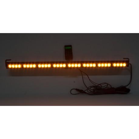 LED svetelná alej, 32x 3W LED, oranžová s displejom 910mm, R10 R65