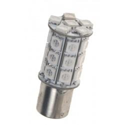 LED BAY15d (dvouvlákno) oranžová, 12V, 27LED / 3SMD