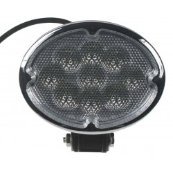 LED svetlo oválne, 9x3W, 147x150x73mm