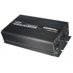 Menič napätia z 24 / 230V + USB, 3000W