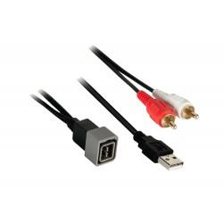 USB + JACK konektor Nissan