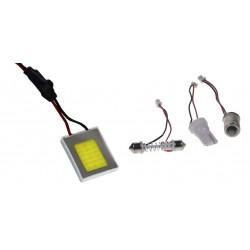 COB LED panel 22x27mm 12-24V, 18LED / 0,5W