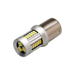 LED BAZ15d (dvouvlákno) biela, 12-24V, 30LED / 4014SMD
