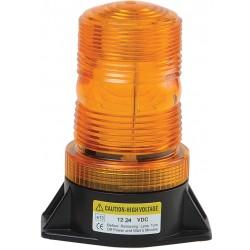 Zábleskový maják 12-24V, oranžový, ECE R10