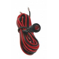 Červená blikajúci kontrolná LED s objímkou a káblom