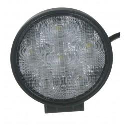 LED svetlo guľaté, 6x3W, ø128mm, ECE R10