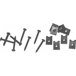 Skrutky + upevňovacie pliešky k repro 8 ks