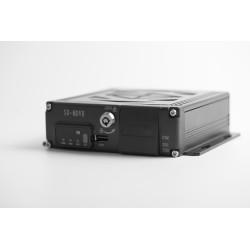 Čierna skrinka pre záznam obrazu zo 4 kamier, GPS, 2x slot SD
